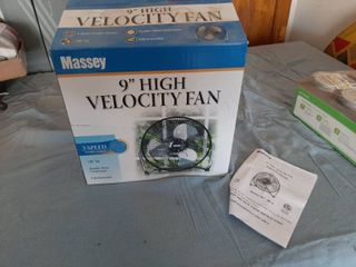 9  High Velocity 3 Speed Fan  Black