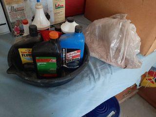 Assorted Fluids  Oil Pan and Floor Sweep