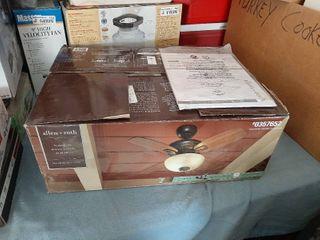 Allen   Roth laralyn 32 in Dark Oil rubbed Bronze Indoor Ceiling Fan W light Kit   Missing Glass Shade