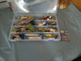 Organizer with Fishing lures
