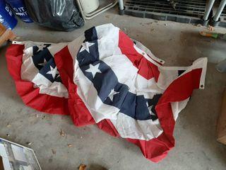 2 Patriotic Bunting Decor