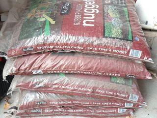5  Bags Rubber Mulch