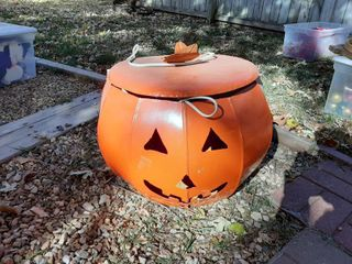 large Metal Pumpkin