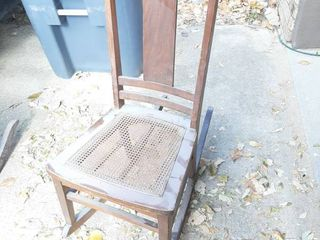 Rocking Chair with Cane Seat