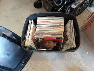 Tub with Assorted Records