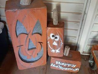 Wooden Pumpkin Decor