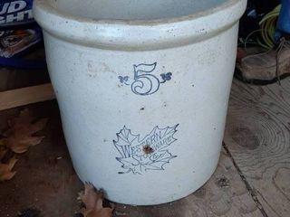 5 Gal Western Stoneware Crock