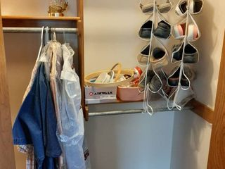 All Remaining in Closet   Shoes  lamp and Dresses
