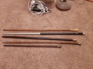 5  Walking Sticks