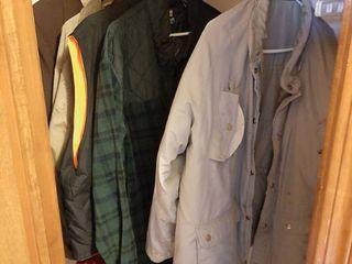 Coats and Vests in Closet