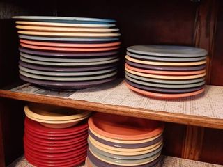 Multi Colored Plates and Bowls
