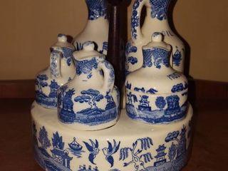 Blue Willow Condiment set