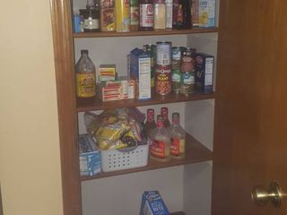 all food and spices in pantry