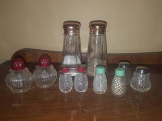 assorted salt and pepper shakers