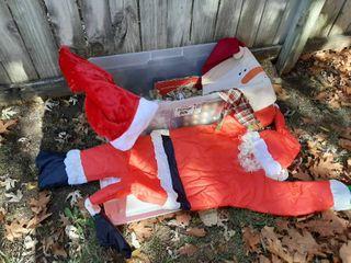Tub with Christmas Decor