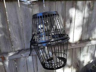 Skeleton in Basket Cage
