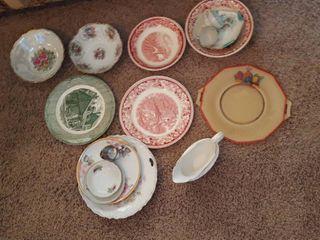 Assorted dinner ware
