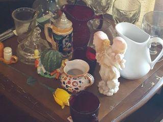assorted glassware   decor