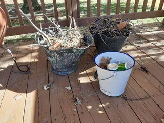2 Coal Buckets and White Bucket