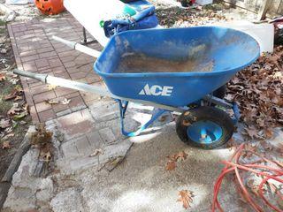 Ace Dual Wheel Wheelbarrow   Metal Tub