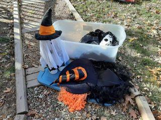 Tub with Halloween Decor