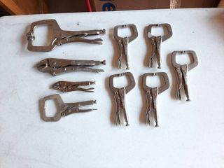 Assorted locking Pliers