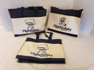 Vintage Flight Safety Canvas Tote Bags