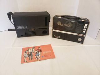 PORTABlE GE M8000 TAPE RECORDER with Microphone and Manual
