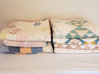 7  Quilts   look at pictures for condition