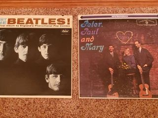 Vintage Vinyl Records   Meet the Beatles   Peter  Paul and Mary