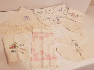 8 Pcs Embroidered linens