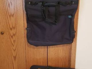 Black Nylon luggage   3 pieces   Garment  Duffel and 26 x 18 in  Travel Bag