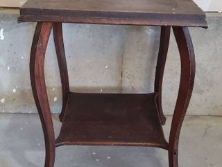Antique Oak Table   23 x 23 x 29 in  tall