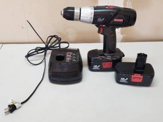 Craftsman Cordless Drill   19 2 Volt W Charger   Extra Battery   works