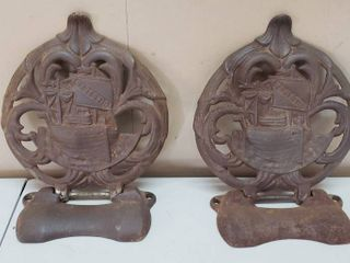 2 Cast Iron 2 pc  Majestic Covers