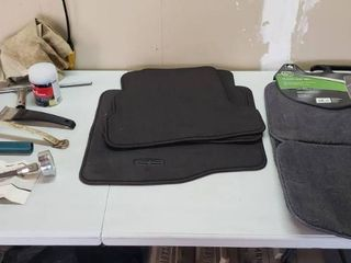 2 Sets of Floor Mats  each set is ONlY 3 pieces   1 front and 2 back  and other Accessories Tools