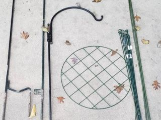 3 Shepherd s Hooks  3 to 4 ft  tall  and other Plant Stabilizers