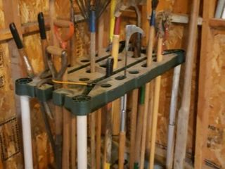 long Handle lawn Garden Tools w  Organizer Stand