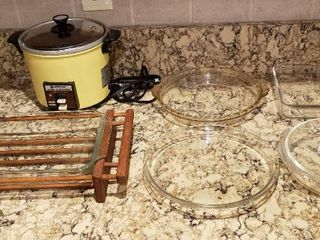 Hitachi Rice Cooker and Pyrex and Anchor Hocking Baking Dishes