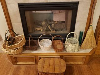 Baskets  Picnic Basket  Broom and Fireplace Matches
