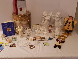 Decorative Christmas Angels   Porcelain  Wood and Others