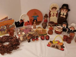 Fall Decor   Book  Wood Decor  Candles  Wreath and More