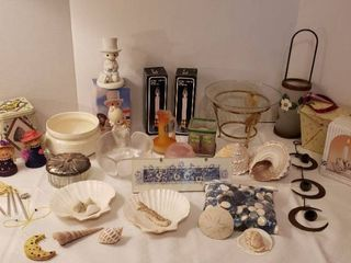Miscellaneous Home Decor  Figurines  Candles  Sea Shells  Wind Chimes and More