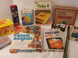 Vintage Games   Trivia  Take 5  Connect Four and More