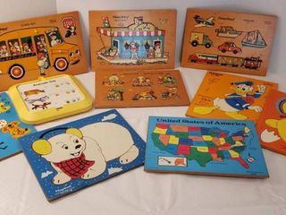 Fisher Price  Playskool and Connor Toy Puzzles  All Pieces Included  Good Condition