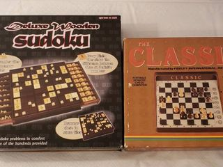 Deluxe Wooden Sudoku and The Classic Computerized Chess Game