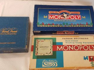 Two Monopoly Games Classic and Anniversary Editions  Trivial Pursuit