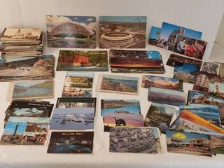 Vintage location Post Cards  Some used with Stamps and Some Unused  There s a bunch