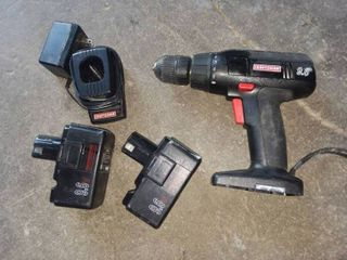 Craftsman 9 6 Volt Cordless Drill with 2 Batteries and 1 Charger