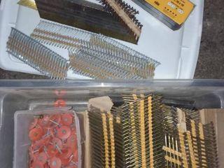 Hitachi Strip Nails with Dewalt  27 Caliber Safety Stip loads